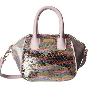Betsey Johnson MINI SATCHEL COLORED SEQUENCE
